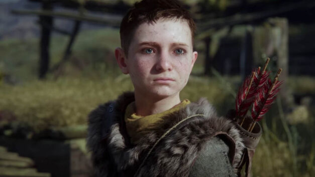Atreus looks into the distance