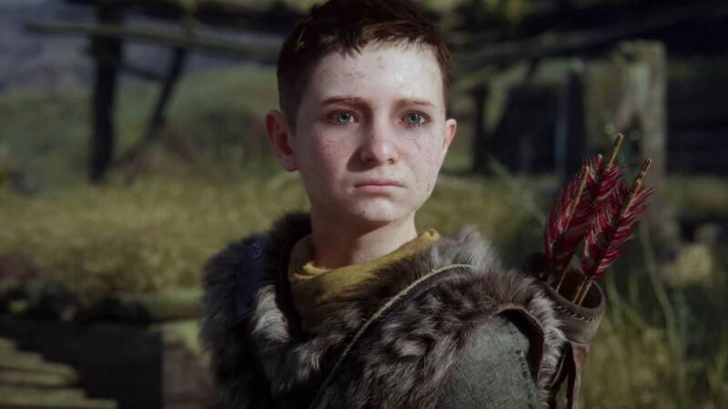 Atreus looks into the distance