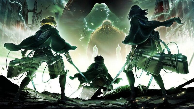 Part of the key art released from Attack on Titan season two.