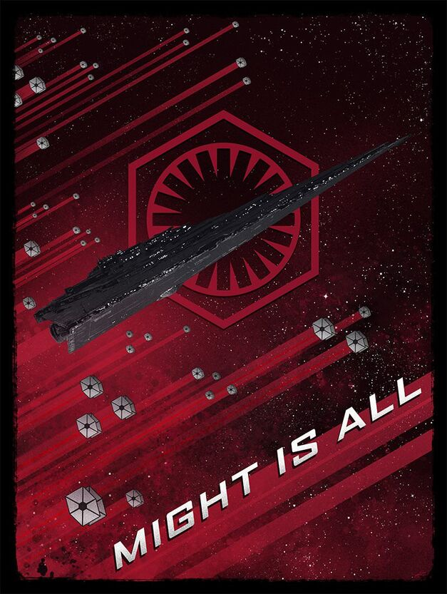 Star Wars propaganda poster Might Is All