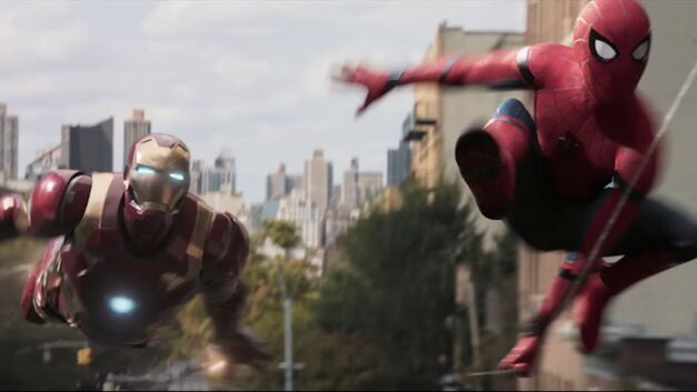 Iron Man Spider-Man homecoming feature hero
