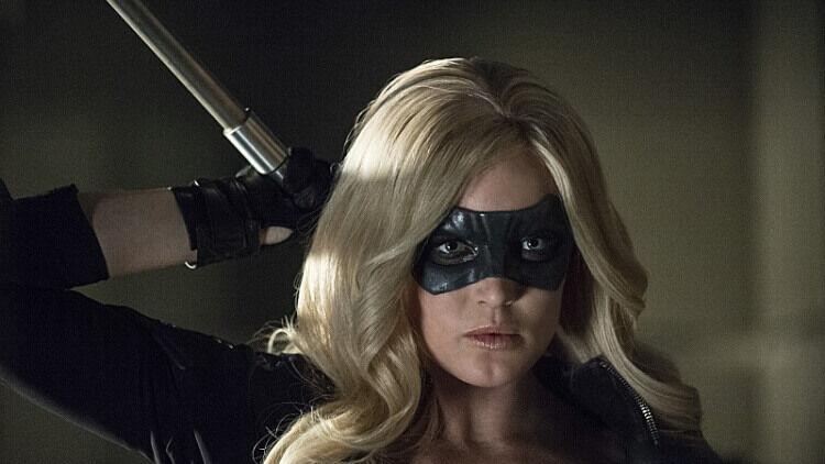 Sara Lance as Black Canary on Arrow.