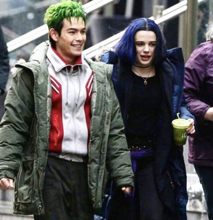 Beast Boy and Raven from Titans