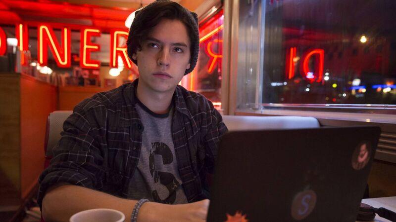 Jughead Jones at his computer