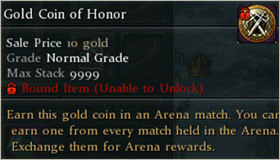 Gold coin of honor