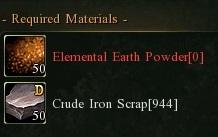 Crude ingot earth