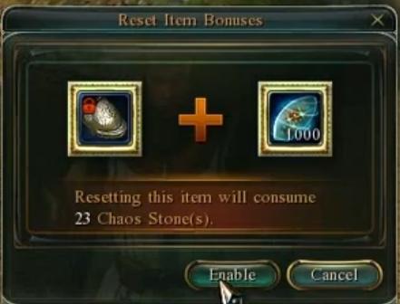 Chaos stone