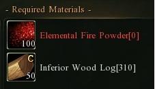 Infer wood fire