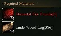 Crud wood fire