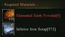 Inferior ingot earth