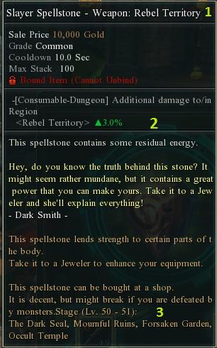 Spell stone opis
