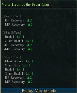 Oberon fighter set stats