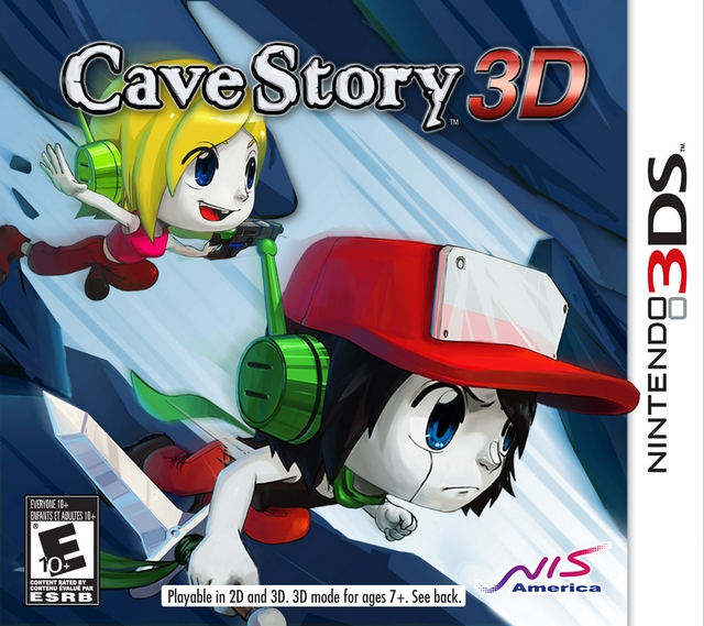 Cave story 3d cave story wiki fandom powered by wikia the north american boxart featuring quote right holding the blade and curly brace left holding the nemesis voltagebd Gallery