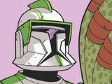 Unidentified Green Company clone commander