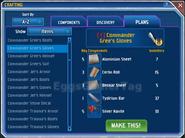 Commander Gree Gloves