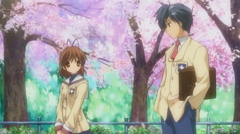 On The Hillside Path Where The Cherry Blossoms Flutter Clannad
