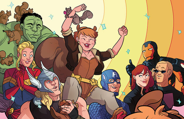 Squirrel Girl with Avengers