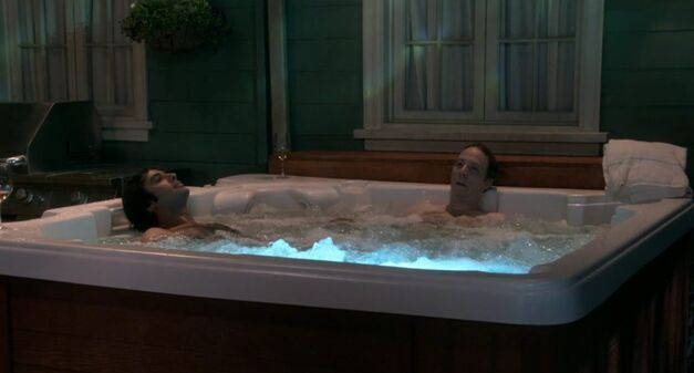 big bang theory hot tub with raj and stuart