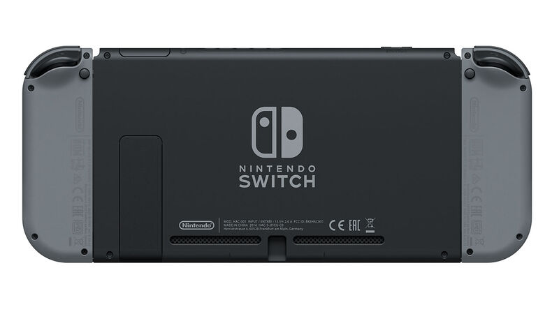 Nintendo Switch review - rear of the console