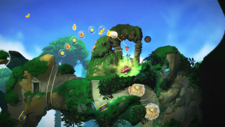 Yoku's Island Express is visually similar to Donkey Kong Country