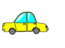 Yellow car DAU