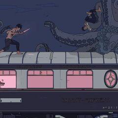 Alec lutando para libertar Magnus da mãe da ninhada de <a href=