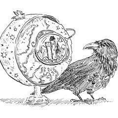 Ilustração do começo do capítulo 5, por Kathleen Jennings, usada na edição do 10º Aniversário