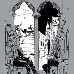 Os últimos Morgensterna em seus tronos em Edom