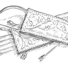 Ilustração do começo do capítulo 19, por Kathleen Jennings, usada na edição do 10º Aniversário