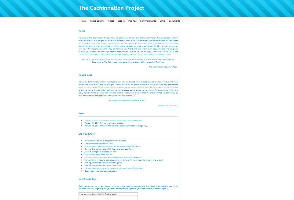 Image - Thecachinnationproject.jpg   Cachinnation Wiki
