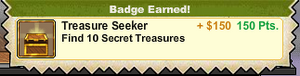 Treasure Seeker Badge