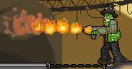 Cactus McCoy 1 - McCoy fires Flamethrower