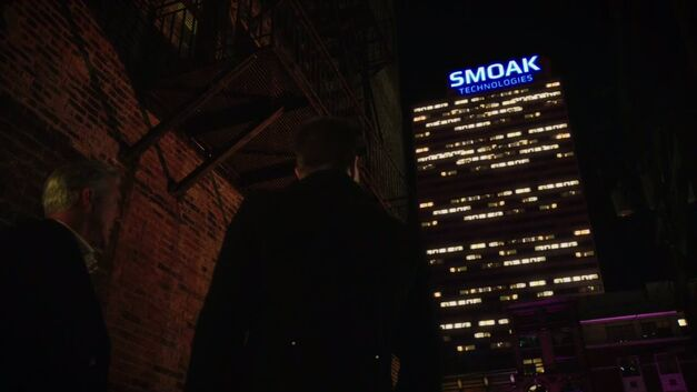 Smoak Technologies building at night