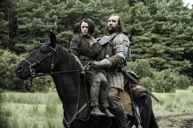 Arya Stark and The Hound on HBO's 'Game of Thrones'
