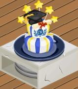 Graduation Cake served