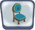 Round Blue Chair