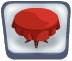 Red & Round Tablecloth
