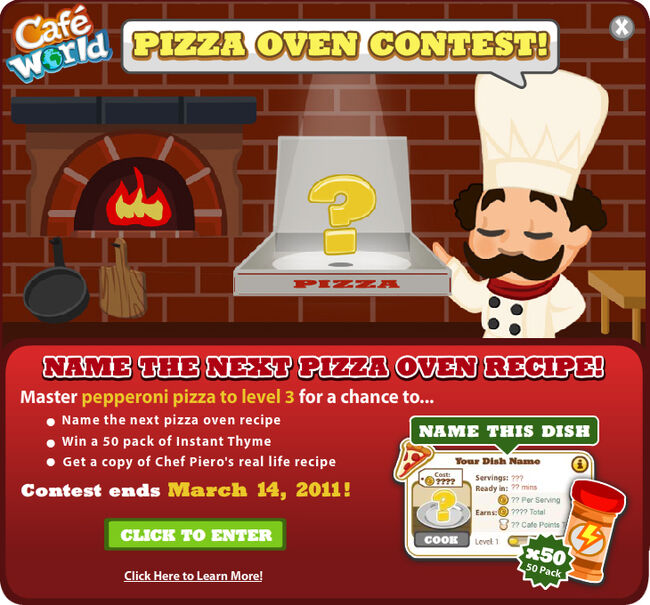 PizzaOvenContest