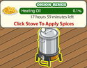 Onion Rings 1 heating oil