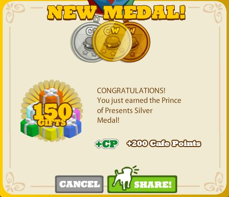 Prince of Presents Silver Medal