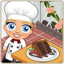 Taste test delicious chocolate cake