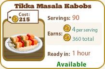 Tikka Masala Kabobs