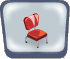 Red V Diner Chair