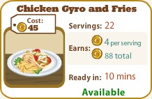 Chicken Gyro and Fries