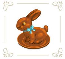 Chocolatebunnywhitebg