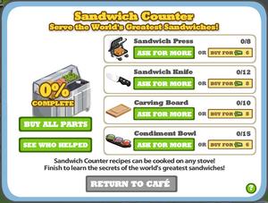 Sandwhichcounterbuild