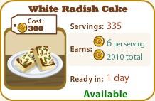 White Radish Cake
