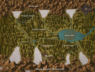 The Valley map
