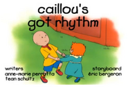 Caillou's Got Rhythm Title Card