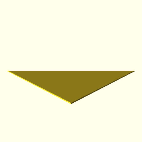 File:OpenSCAD linux i686 mesa-dri-r300 wicr opencsgtest-output triangle-with-duplicate-vertex-actual.png